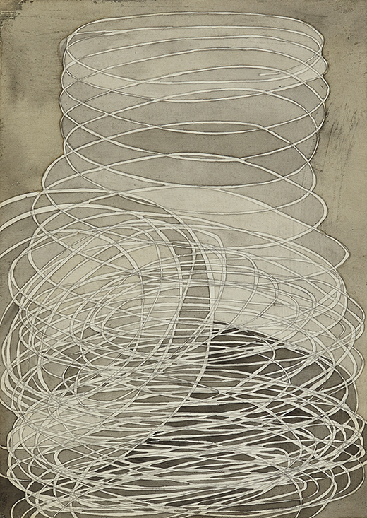 """Piles, cages, coils"" 2009-2010 gouache, pencil on paper"