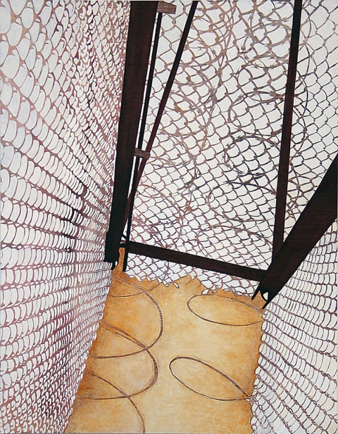 Tangles, Portals and Fences 2004-2007 oil on canvas