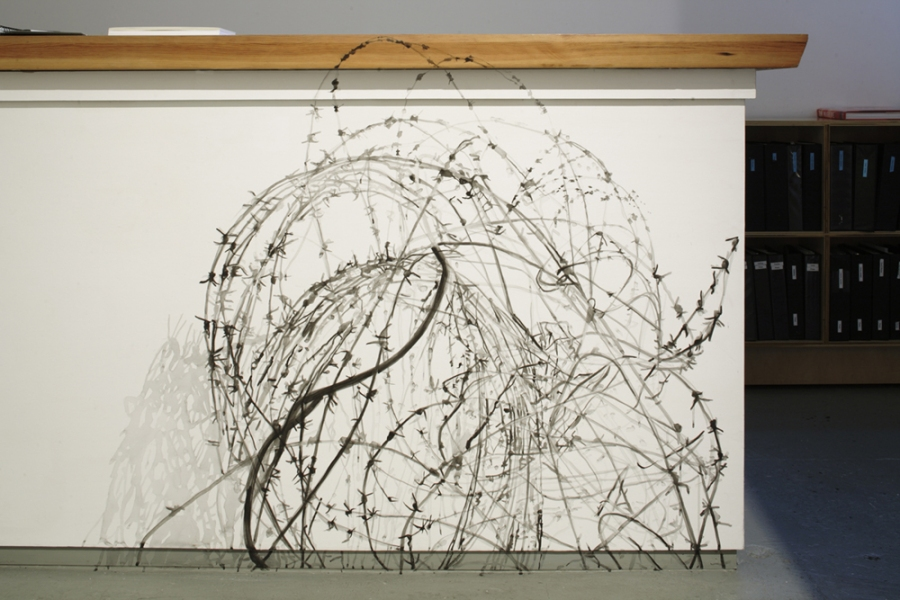 Tangles, Portals and Fences 2004-2007 Drawing installation