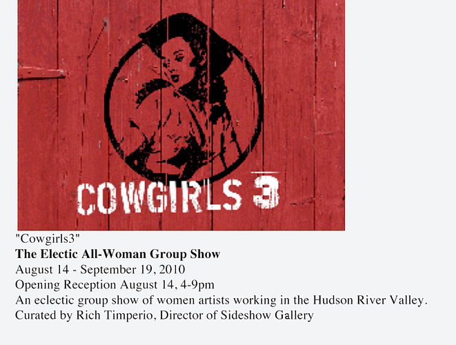 Cowgirls3: The Electic All-Woman Group Show
