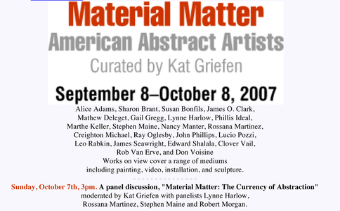 Material Matter: American Abstract Artists