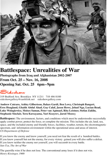 Sideshow Battlespace: Unrealities of War