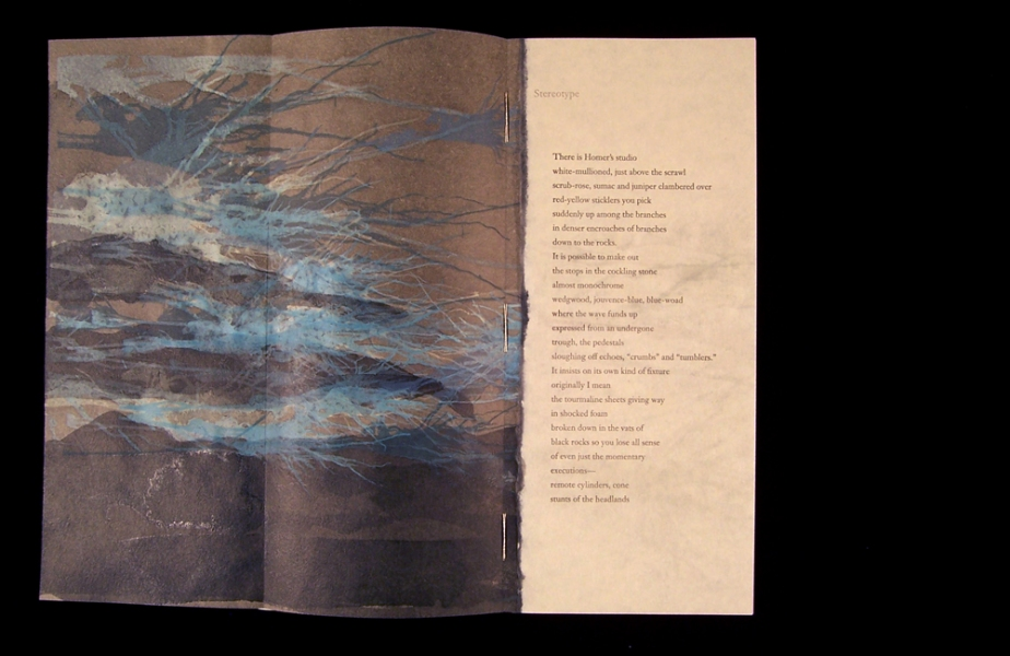 Morpho Terrestre Stereotype, gatefold partially open