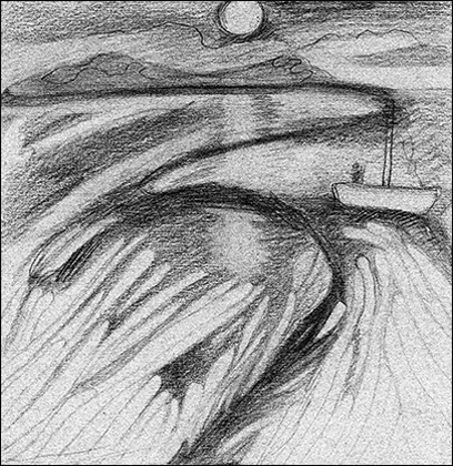 Black Rock 1974-1980 Estuaerial Sketch, #3