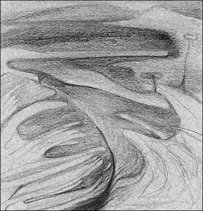 Black Rock 1974-1980 Estuaerial Sketch, #2