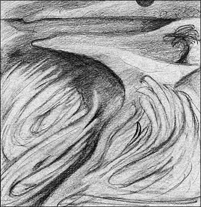 Black Rock 1974-1980 Estuaerial Sketch, #5