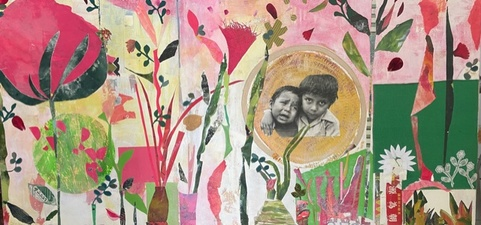 STACIE SPEER SCOTT Currently available collage on canvas
