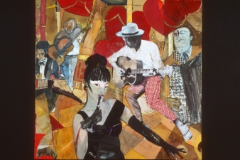 STACIE SPEER SCOTT Musicians Archives mixed media on paper