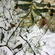 STACIE SPEER SCOTT Botanical mixed media/canvas