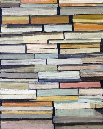 Stanford Kay Stacks Acrylic on canvas