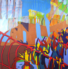 Stephanie Hightower The Urban Field Oil on Canvas