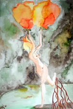 Stephanie Pierro Paintings Watercolor on Paper
