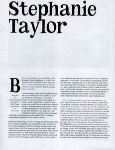 Stephanie Taylor Interviews
