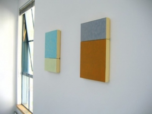 STEUART PITTMAN Painting Acrylic and oil, each on two panels