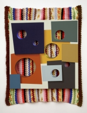 Steve DeFrank Past Work Casein on Panel, Wool blanket