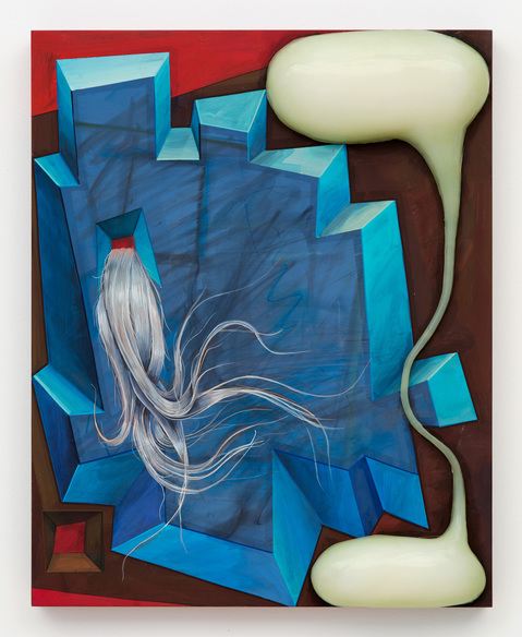 Steve DeFrank Current Work Casein, silicone, wood panel