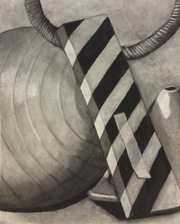 Steve Rossi Student Work Charcoal on paper