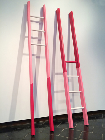 Steve Rossi Reciprocal Ladders Plywood and acrylic latex