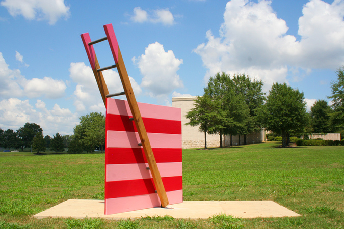Steve Rossi Reciprocal Ladders Cedar and acrylic latex