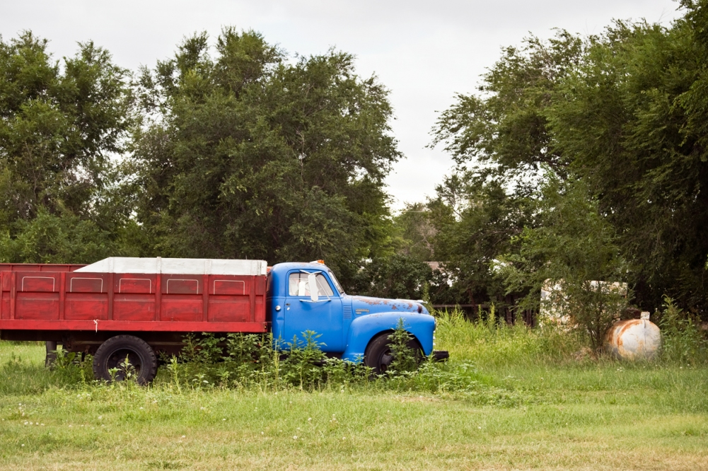 America by Auto Red & Blue Truck, Nicodemus, Kansas