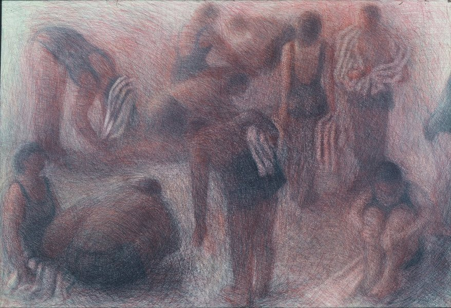 Drawings Bathers with Towels