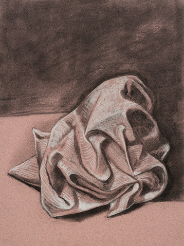 SUE JOHNSON Small still life drawings (2014-15) Charcoal on paper