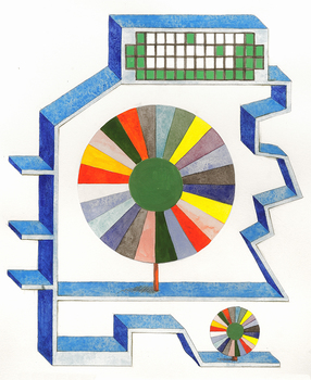 SUE JOHNSON Designs for Imaginary Shelves (2011-13) Gouache and pencil on paper