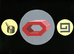 SUE JOHNSON Poem Objects (2006) Gouache on paper