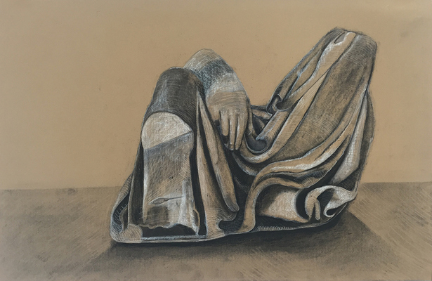 SUE JOHNSON Drawings from Rome charcoal and pencil on paper