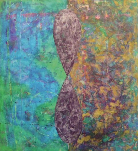 large paintings Pigment, oil stick & plaster on wood