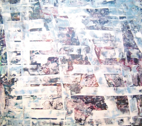 large paintings Oil, oil stick, pigment & plaster on wood