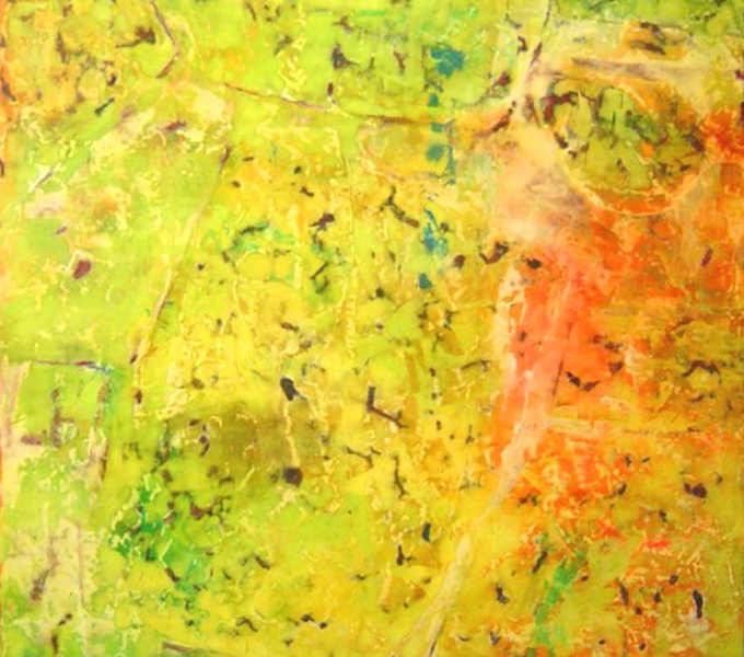 large paintings Yellow Lichen Painting