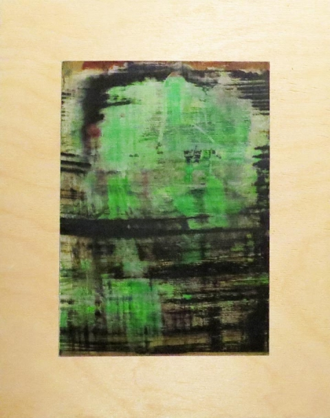 small paintings Otherside Green Dog