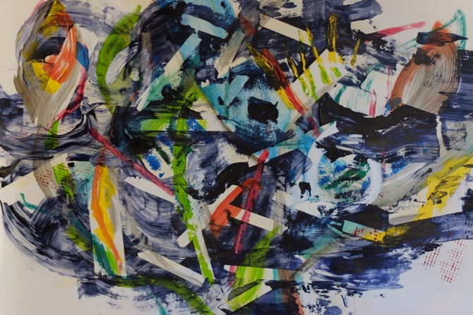 2012-2013 acrylic on paper