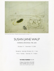 "Susan Jane Walp Catalogues 11 x 8 1/2""; fold-out triptych; 6 pp; 12 color ill."