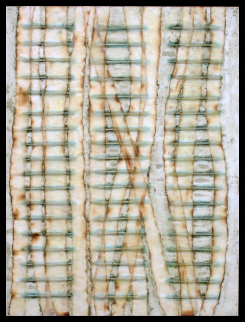 Works on Paper paper, encaustic, oil glaze