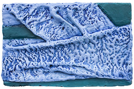 Small Works textiles, encaustic