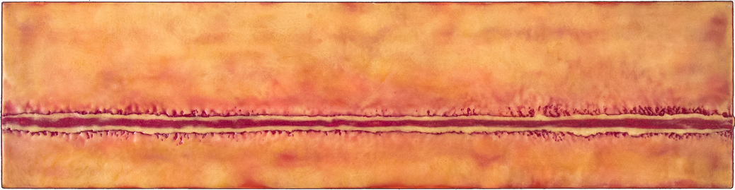 Wide Horizon encaustic on cradled frame