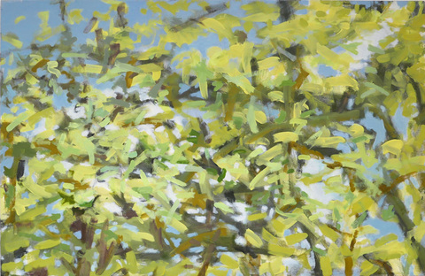 SUSAN POST landscape oil on canvas