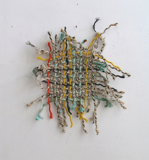 SUSAN POST Woven Line nylon, cotton rope scavenged from beach