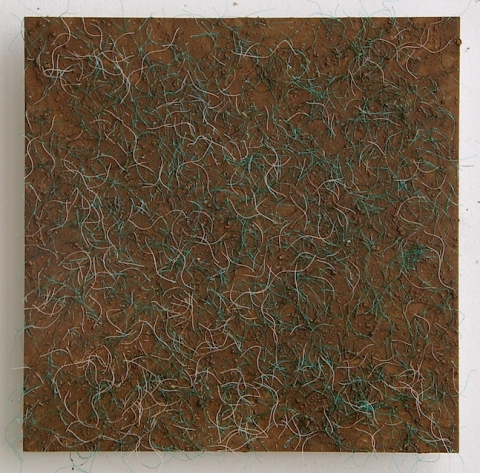 SUSAN POST Woven Line scavenged nylon rope, PVA and dirt on board