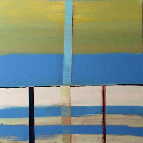 SUSAN POST dividing the square oil on canvas
