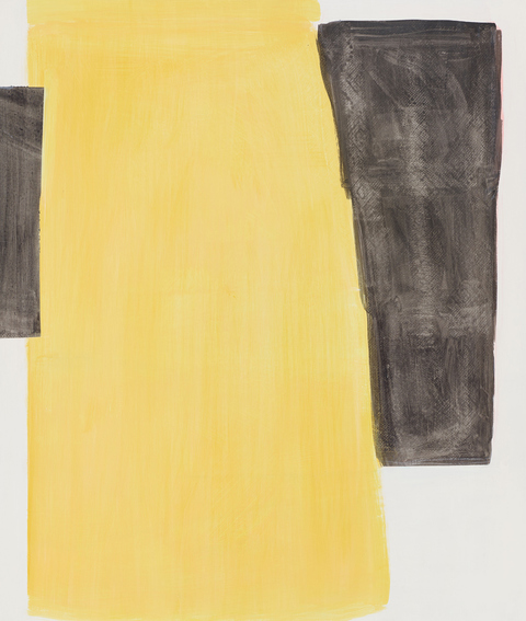 2014-2017 Untitled (yellow between black)