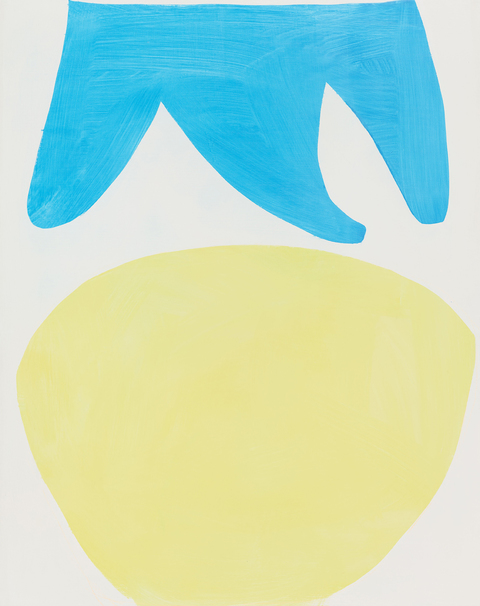 2014-2017 Untitled (blue above yellow)