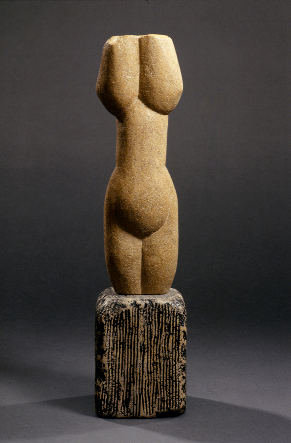 SUZANNA SCOTT Stone Sculpture limestone, lithichrome