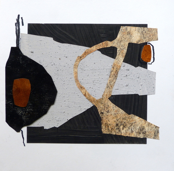 Suzanne Siegel collage on paper 2015 painted paper & mixed media collage