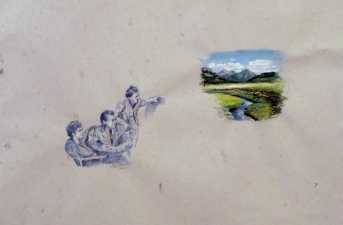 Suzanne Bennett Drawings gouache on paper