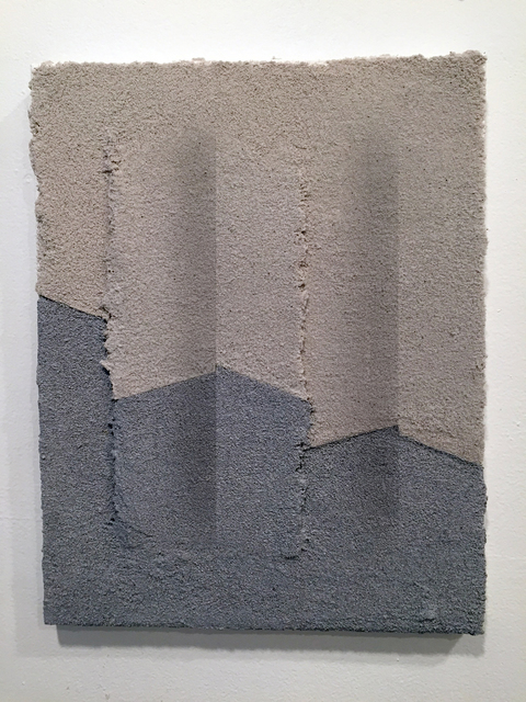 SUZANNE SONG BREAK acrylic and pumice on canvas