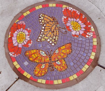Suzi K. Edwards Z.L. Riley Park, Orlando, Florida Glass and Porcelain mosaic