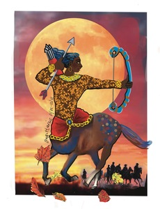 Suzi K. Edwards IPAD PAINTINGS The Zodiac Circus Signed Laser Print